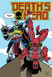 Death's Head vs Deadpool by Simon-Williams-Art