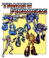 Transformers G1 - DVD artwork by Simon-Williams-Art