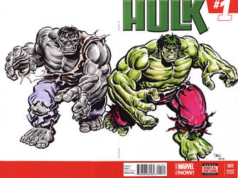 Hulk issue 1 cover sketch by Simon-Williams-Art