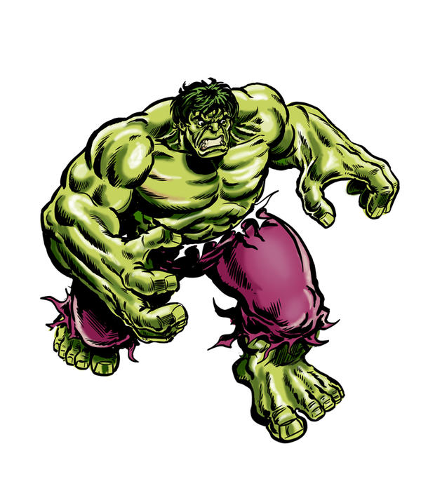 Hulk no.1 sketch cover re-inked