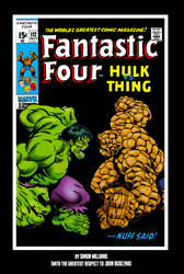 Hulk vs Thing... classic cover style by Simon-Williams-Art