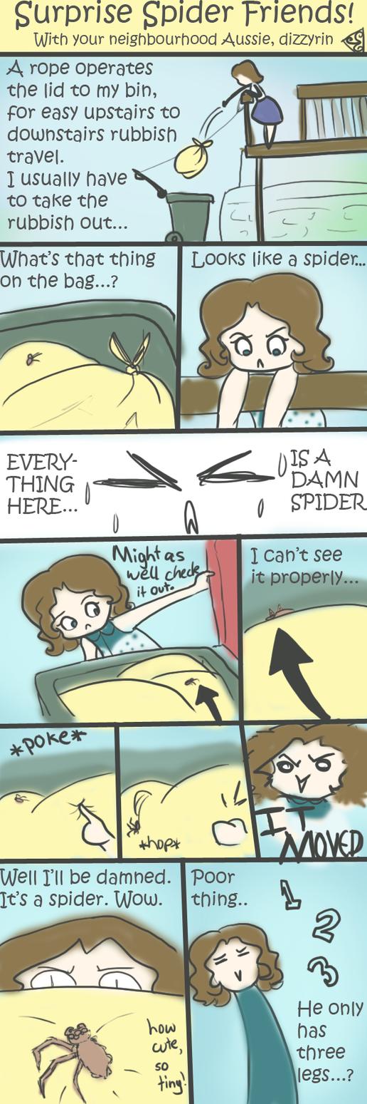 Surprise Spider Friends! by dizzyrin