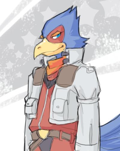 Starfox - Falco Lombardi by karaii