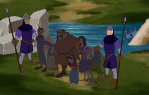 The soldiers arrest gypsies