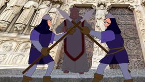 The Soldiers halt The Archdeacon