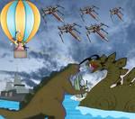 Godzilla vs Bedgran at the ocean