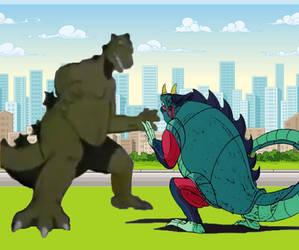 Godzilla vs Robosaurus