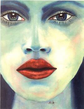 Mermaid Lips in Watercolor