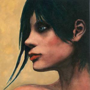 Profile, a watercolor