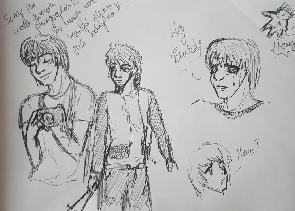 Jonathan Byers Sketches by SherlocksHedgehogJ