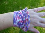 Crochet lace cuff (chunky)
