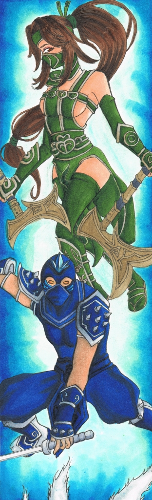 Akali and Shen by Namibiana on DeviantArt