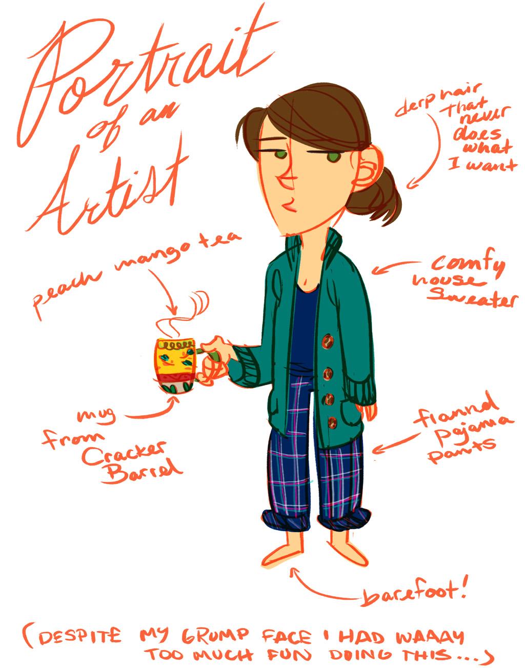 Portrait of an Artist by KateKaz