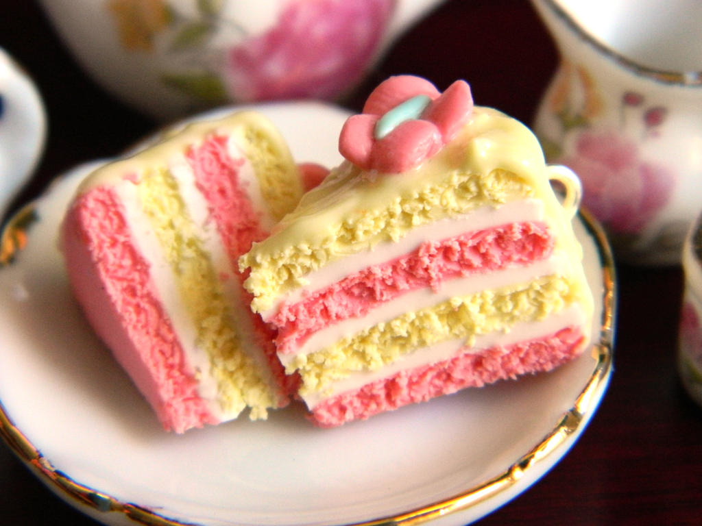 Beautiful Cake Piece Images : Fluttershy Cake Slice Charms by Xiiilucky13 on DeviantArt