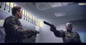 Terminator vs Robocop by OmniRoy