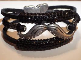 Awareness Jeweled Bracelet - Black