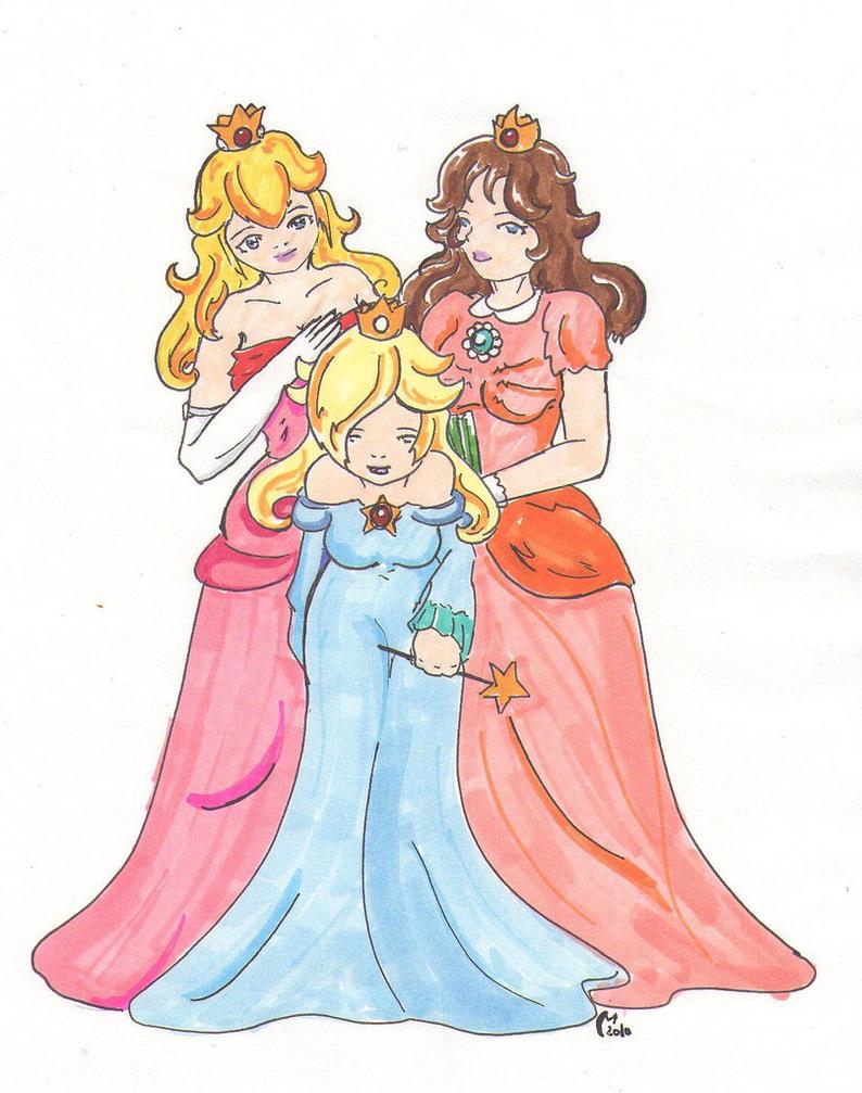 Trio de princesses by merethide on deviantart - Princesse dans mario ...