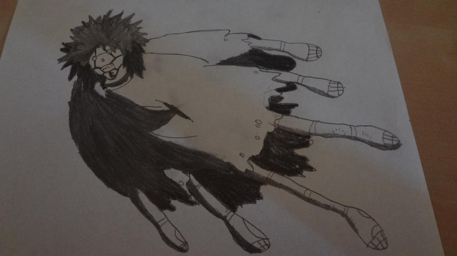 Puppet crow naruto prisma pencil drawing by tropican9