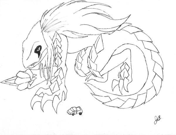Rebecca Lanslay, Kaiju Form by dragon-kun15