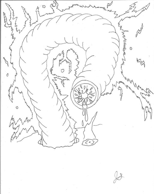 029C Mongolian Death Worm by dragon-kun15