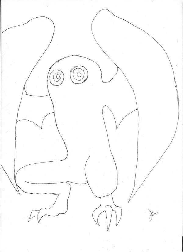 Cryptid 014H Mothman by dragon-kun15