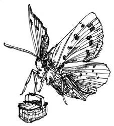 Moth and Picnic Basket by greytrousers