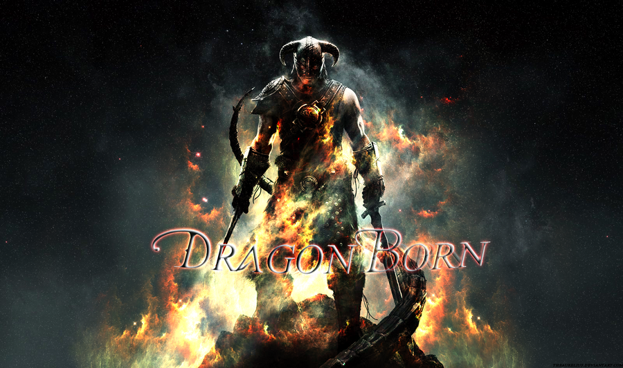 Dragonborn Wallpaper By TheAurelius