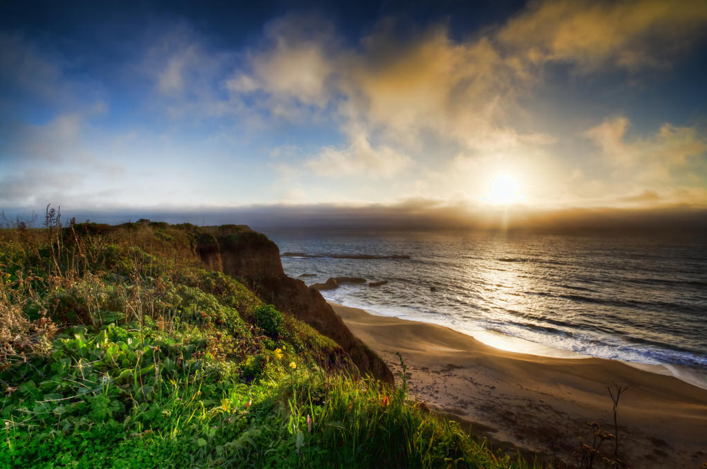 Sunset in Half Moon Bay by Doogle510