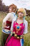 Skyward Sword - Link and Zelda