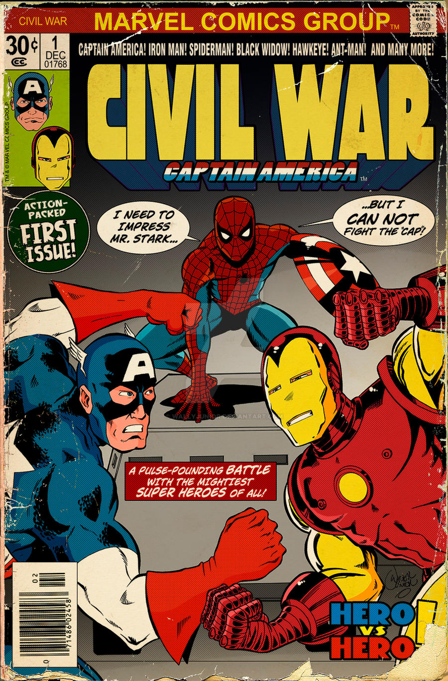 Civil war old school comic cover by wallyjunior on deviantart civil war old school comic cover by wallyjunior altavistaventures Images