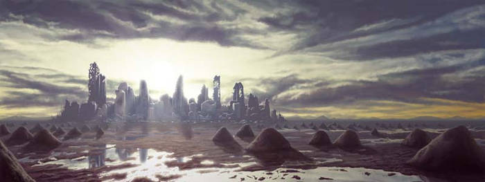 Distant City in Ruins