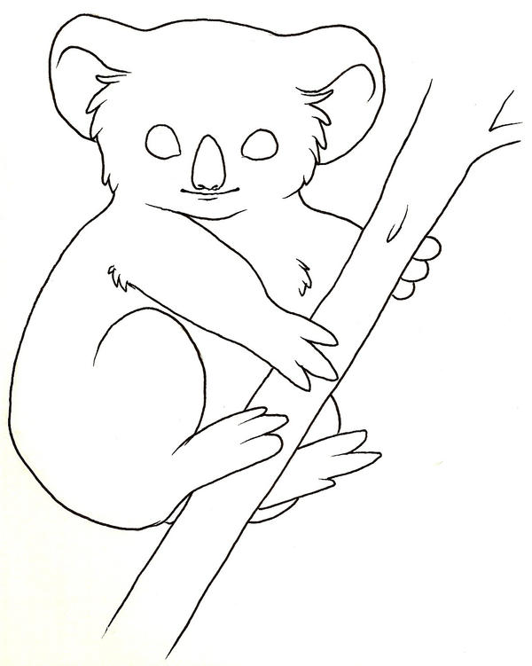 Line Drawing Koala : Koala lineart by azaryth on deviantart