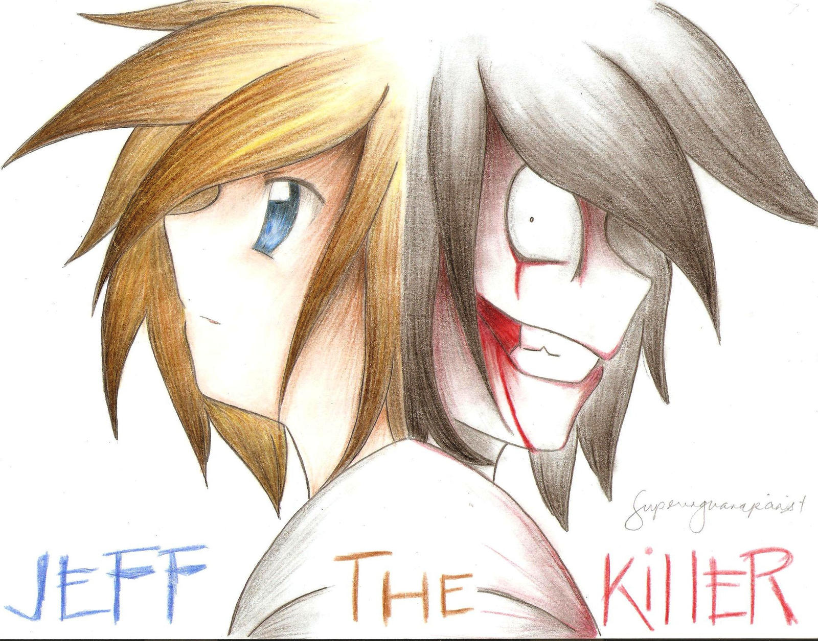 This is a picture of Nifty Jeff The Killer Anime Drawing