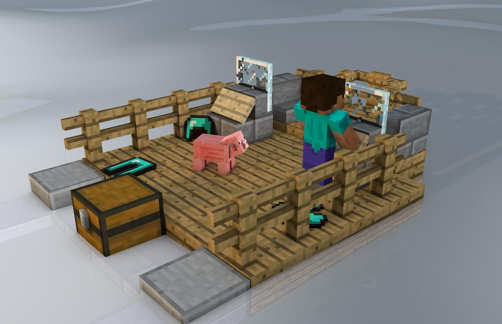 how to get on a boat in minecraft