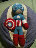 Captain America Plushie by Ginger-Storm