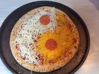 Yin-Yang Pizza by MammalMage