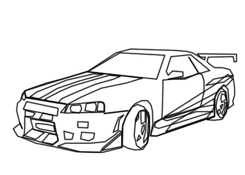 Nissan Skyline Lineart By Googlememan On Deviantart