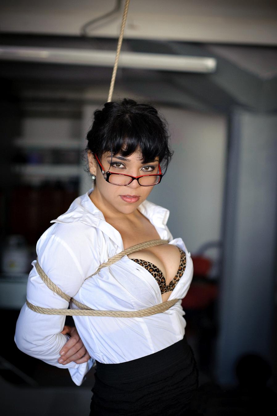 bondage girls wearing glasses