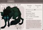 Spined Ridge Wolf