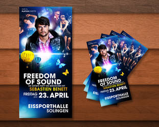Freedom of Sound Party Flyer by kejdi