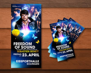 Freedom of Sound Party Flyer