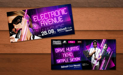 Electronic Avenue Flyer by kejdi
