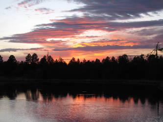 white mountain sunset by eko-vision