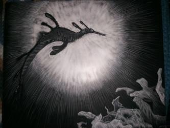 Cosmic Sea Dragon by The-Sapphire-Spirit