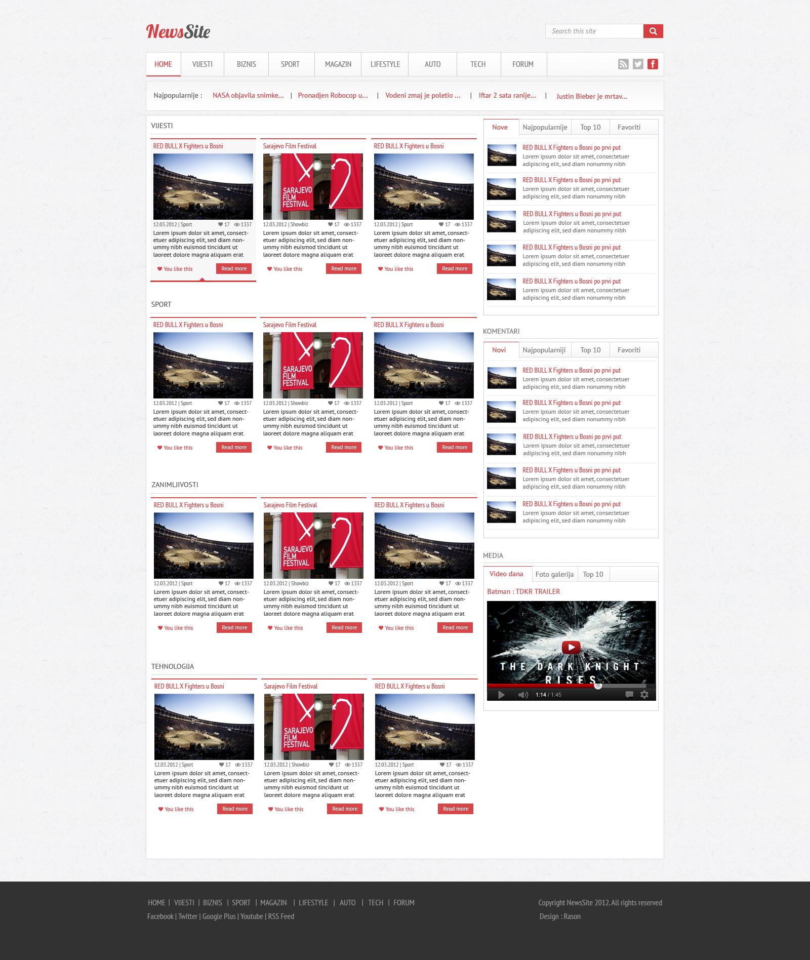 news site web layout by rasondesign news site web layout by rasondesign