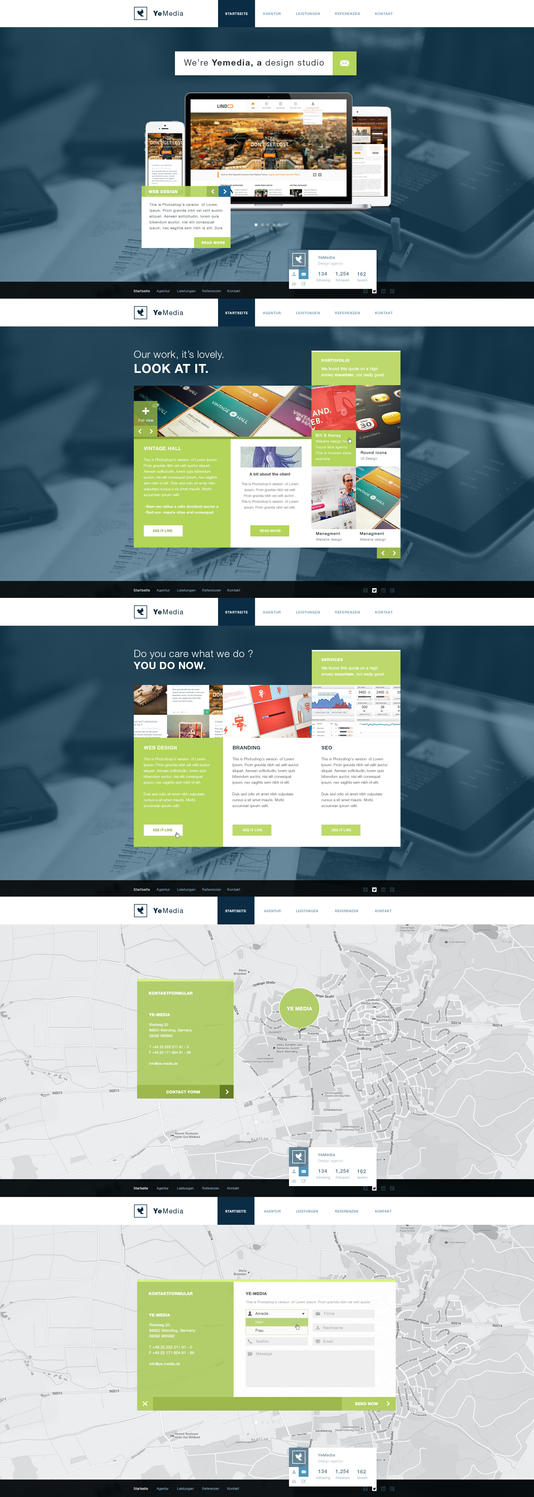 Agency portofolio site desing by RasonDesign