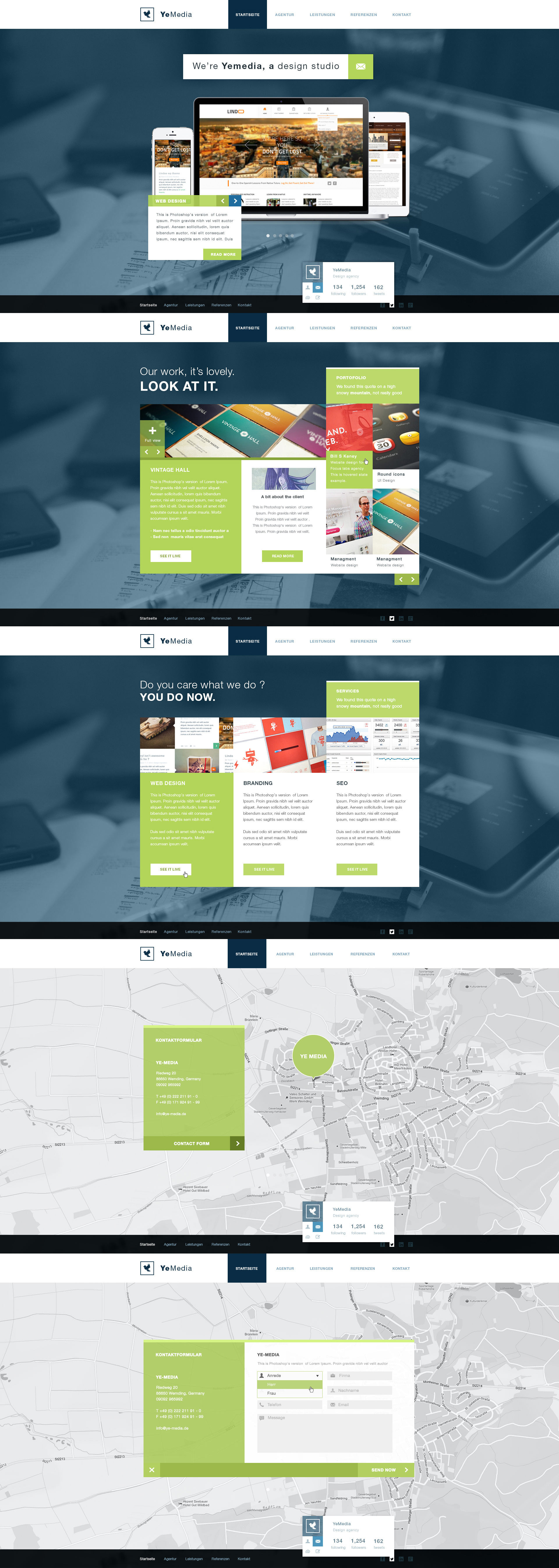 Agency portofolio site desing by RasonDesign
