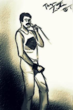 Freddie mercury by thaynaitor