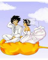goku y chichi by camlost