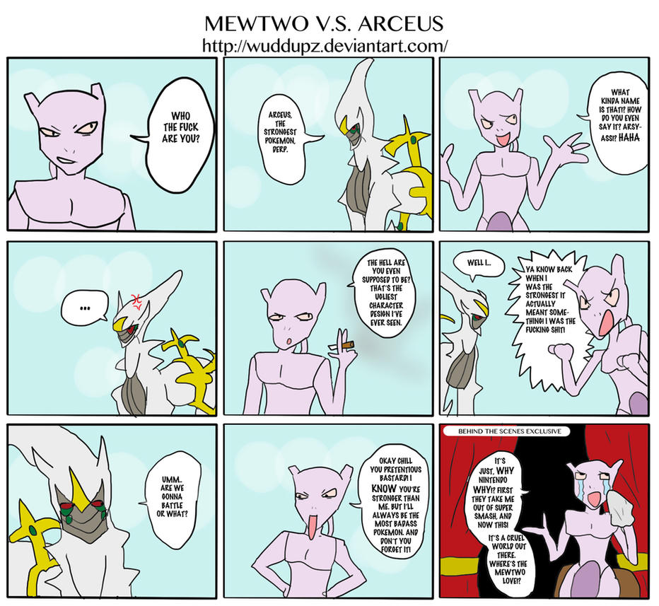 Mewtwo VS Arceus Comic by Wuddupz